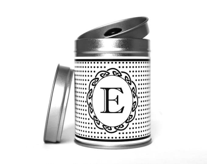 "TEA CADDY ""Your Letter"" personalized"