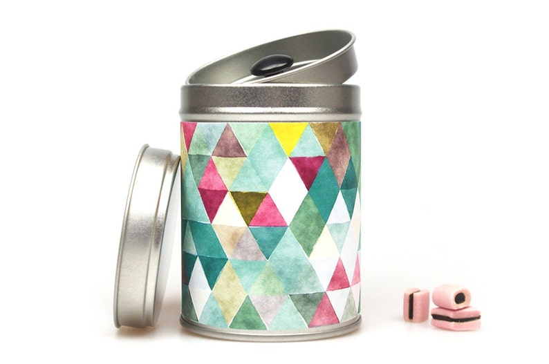 TRIANGLES Gift Tin Caddy image 0