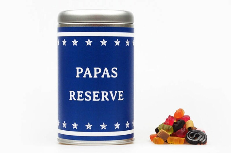PAPAS RESERVE Dein Text XXL Geschenkdose image 0
