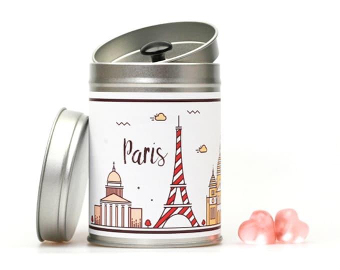 PARIS SKYLINE Hochzeitsdose individualisierbar