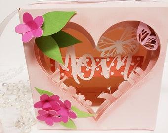 I love you mom layered box