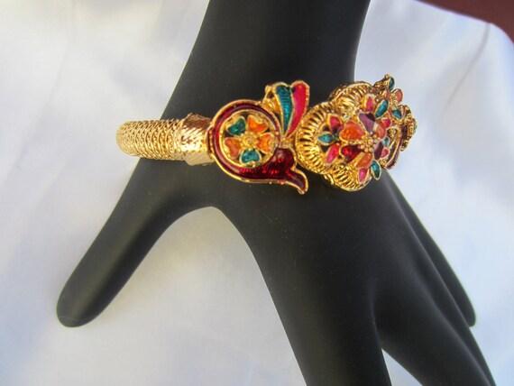 On Sale Flowered Meenakari Kada Gold Bangle Bracelet Kada