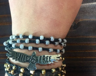 Free Flying: Versatile crocheted necklace / bracelet / anklet/ headband