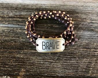 Brave Face: Versatile crocheted necklace / bracelet / anklet/ headband