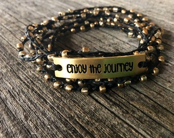 EnJOY :Versatile crocheted necklace / bracelet / anklet/ headband