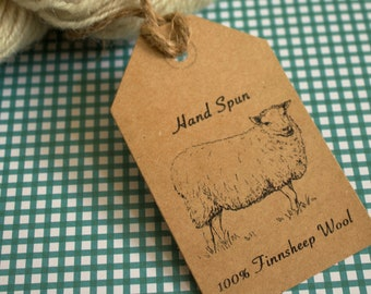 Finnsheep Hand Spun Wool Tags- Printable PDF