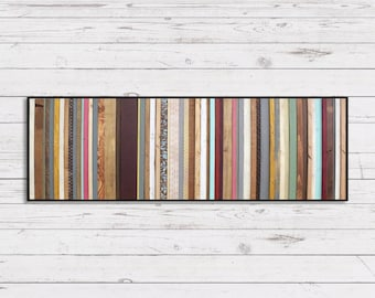 Reclaimed Wood Wall Art - Arabian Nights - Modern Wood Wall Art in Purples, Blues, Reds and Creams - Abstract Minimalist Art
