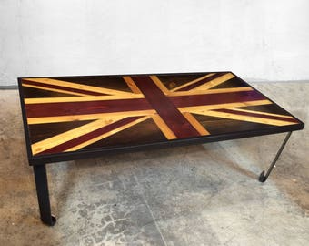 union jack furniture. Union Jack Flag - British Weathered Reclaimed Wood Coffee Table Or  Desk Art Modern Wall Union Jack Furniture