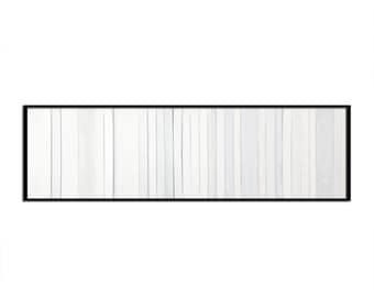 "Reclaimed Wood Art - ""White Wash"" in Whites - Modern Wood Wall Art - Abstract Art  Minimalist Art"