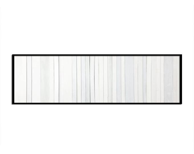 "Reclaimed Wood Art - ""White Wash"" in Whites - Modern Wood Wall Art - Abstract Art  Minimalist Art"