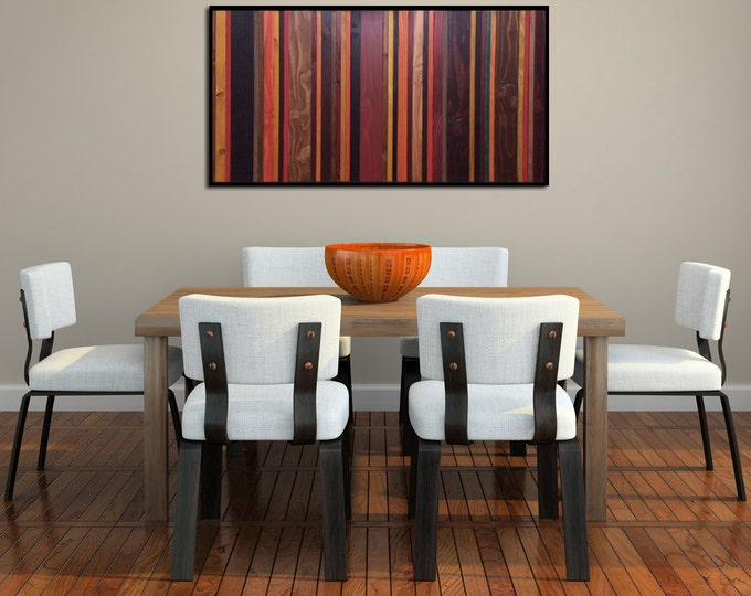 Autumn Colors - Reclaimed Wood Art in Oranges, Yellows, Browns, and Reds - Modern Wood Wall Art - Abstract Wood Art