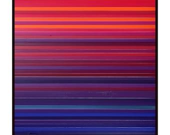 "Starburst - Reclaimed Wood Art - 30""x30"" - Wood Art in Purples, Blues, and Pinks - Modern, Minimalist"