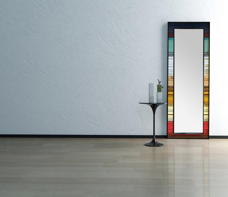 Reclaimed Wood Leaner Mirror 25x70 Floor Mirror Gradient