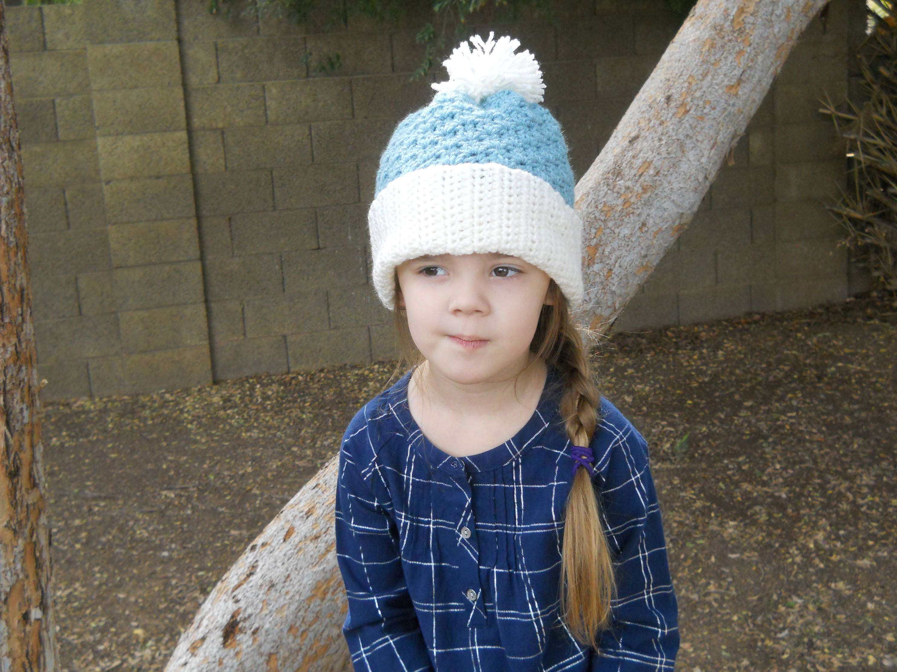 Crocheted Beanie with Pom Pom womens beanie girls beanie  0ba721050f