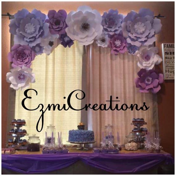 1fec068bc Paper flowet shades of purple arch DIY kit please read
