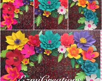 SALE Paper flowers tropical DIY kit