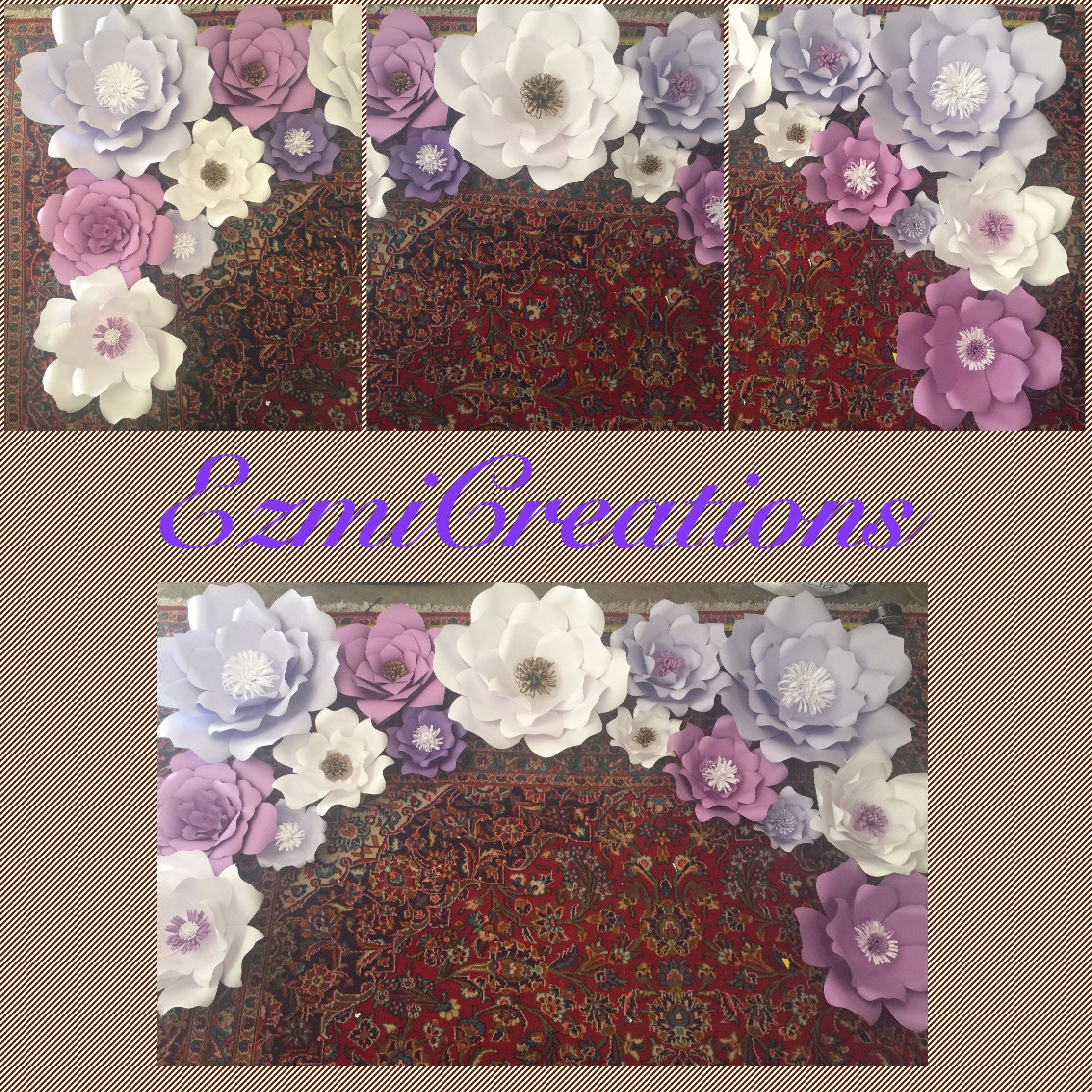 528b65798 Paper flower backdrop DIY KIT any color please read