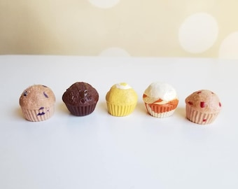 1:3 Scale Blueberry, Pumpkin or Cranberry Muffins for 18 inch doll, 14 inch doll, BJD Doll (Ready to Ship)