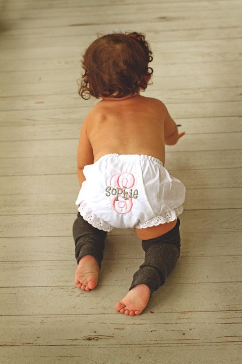 e6b16a385a Baby Diaper Cover. Personalized Baby Bloomers. Ruffle bottom