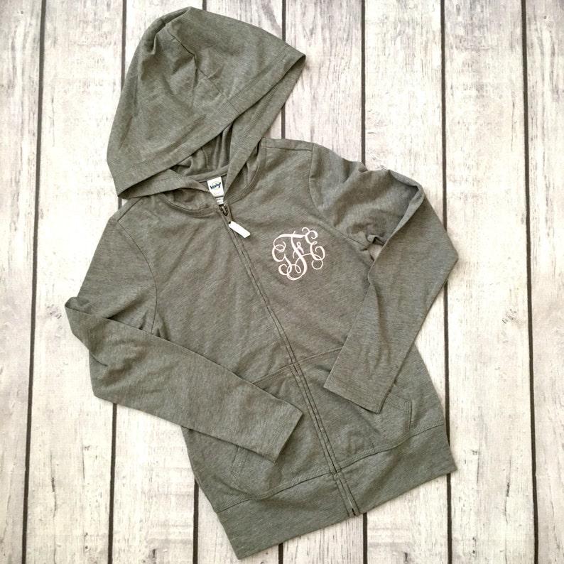 Girl's hoodie with monogram. Monogrammed hoodie for girl. image 0