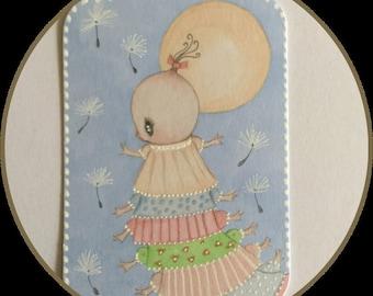 Original art Atc/ aceo Betty fantasy lowbrow art