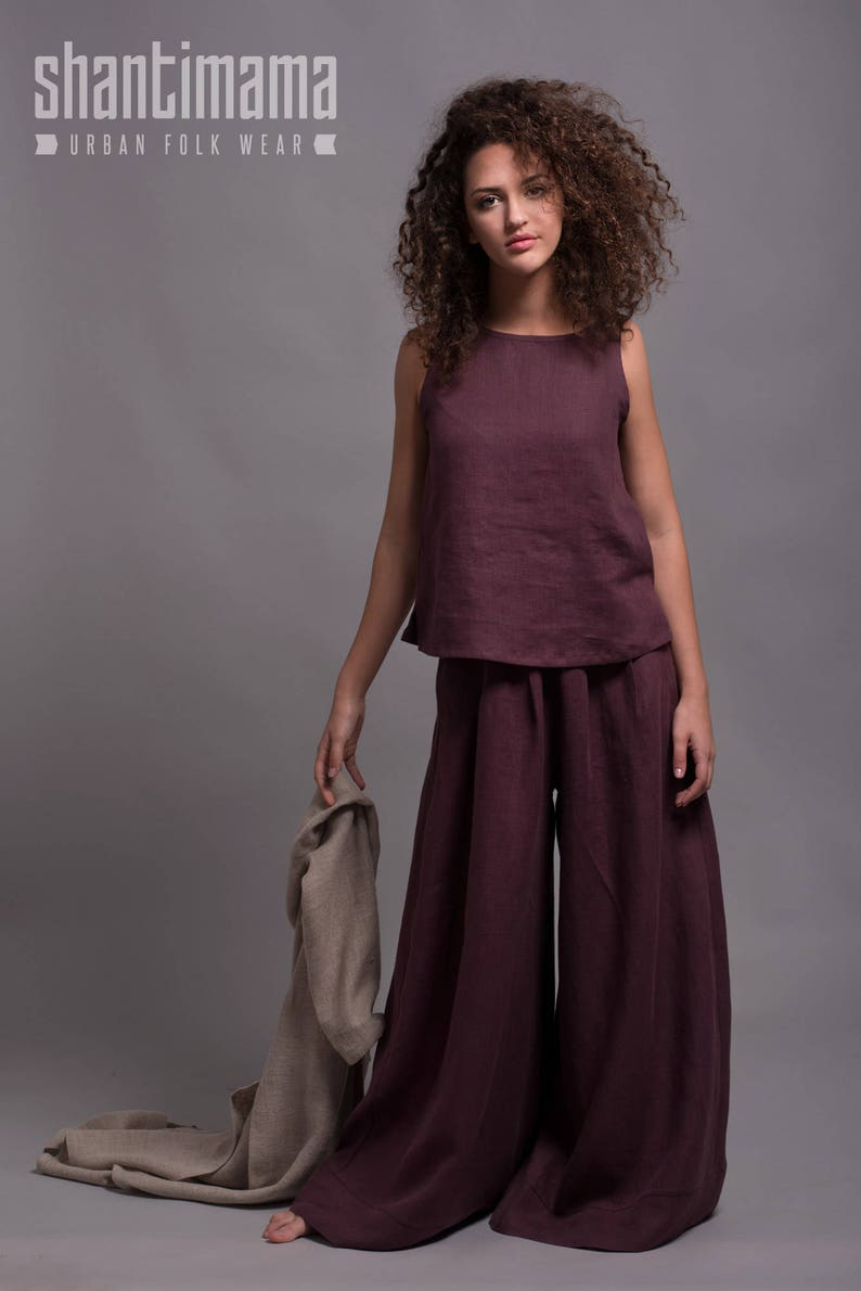 fc6a0d0448a Women Linen Top MAHA Sleeveless Summer Tank Top Blouse Shirt