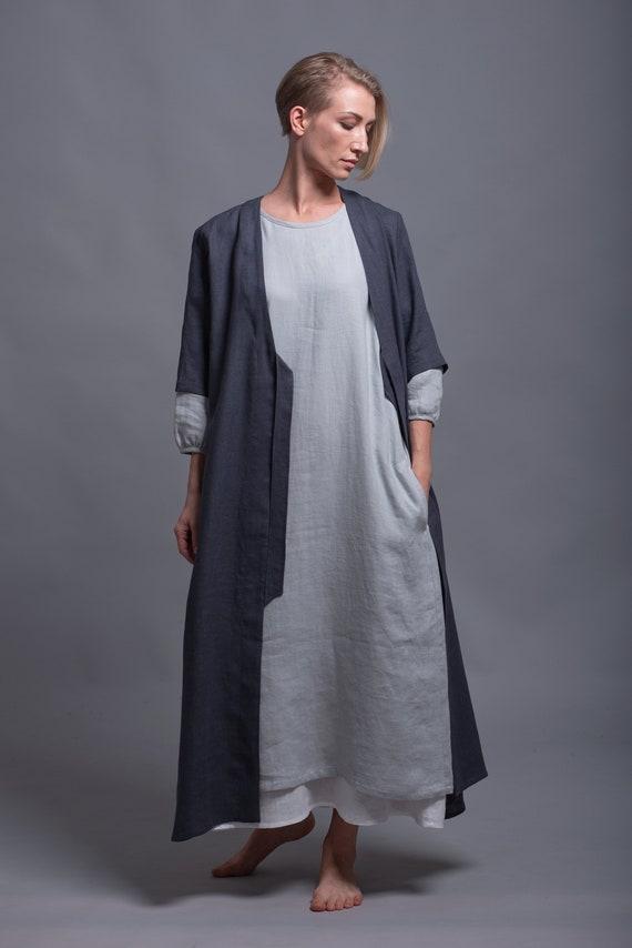 35970aa6f5 Outfit 3 pieces Linen Kaftan URSA Linen Dress NIKA