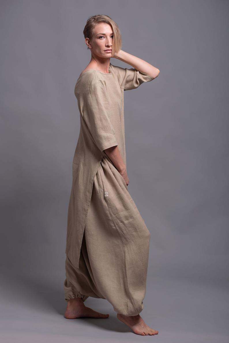 3925038b6c8 JIVA Linen Harem Pants for Women Lounge Comfortable Oversized