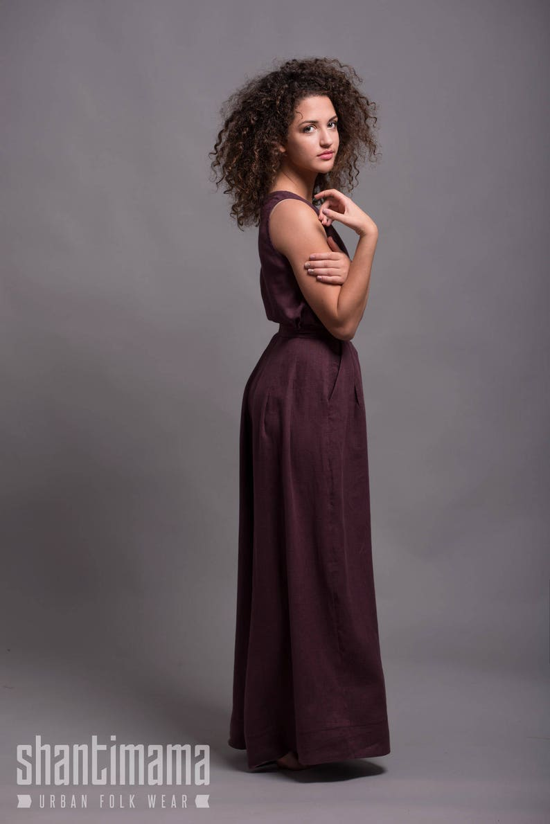febb9838ab4 Women Linen Top MAHA Sleeveless Summer Tank Top Blouse Shirt