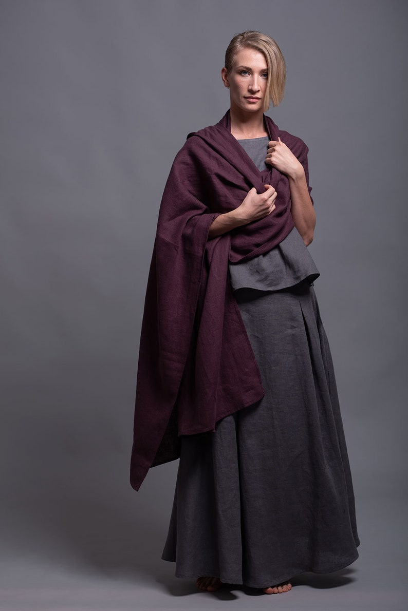 Outfit  3 pieces  Linen Long Skirt INDI Linen Tank Top image 0