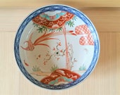 Vintage Japanese Imari Bowl Porcelain Japan Ware 8 3 8 quot Diameter