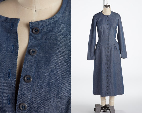 1970s Alley Cat by Betsey Johnson, 70s Denim Dress