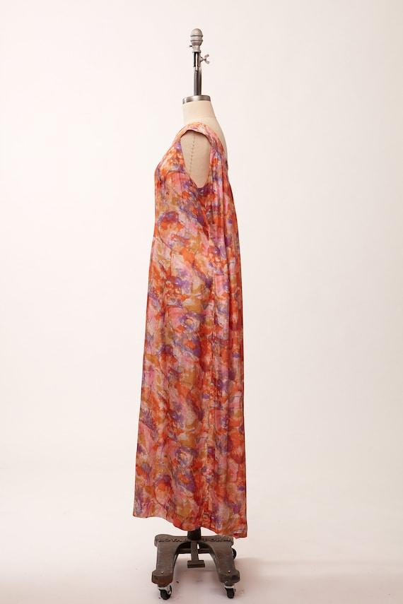 1970s Ivory Empire Waist MaxiFull Length Dress by Kay Windsor
