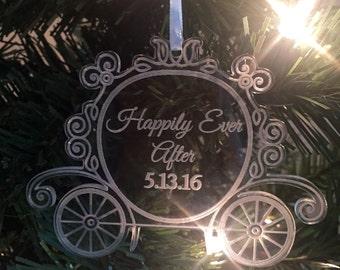 ORIGINAL CREATOR Princess Carriage Cinderella Ornament, Christmas Ornament, Disney Wedding, Cinderealla Ornament, Disney Christmas Ornament