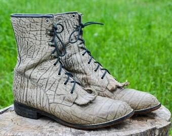 62e99e01acb0b Justin exotic boots | Etsy