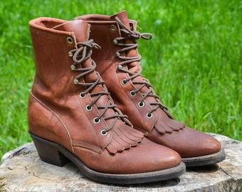 d598084d2f7 Lace-up roper boots | Etsy