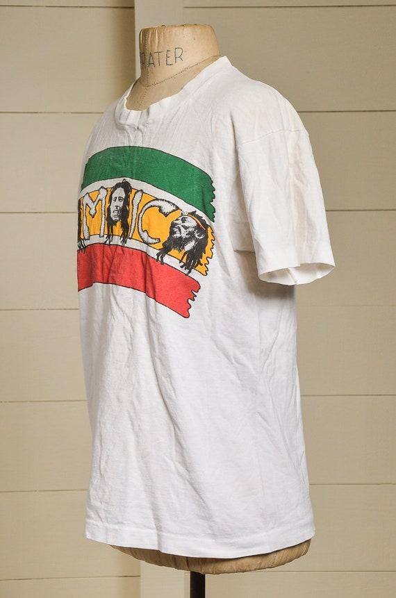 1990 Bob Marley Marley Marley légendes jamaïcain coton blanc T Shirt 48194f