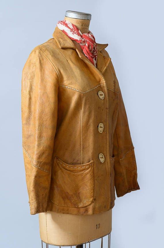 pelle occidentale di daino pelle giacca Etsy in in 1950s difficoltà HgdqwxHp