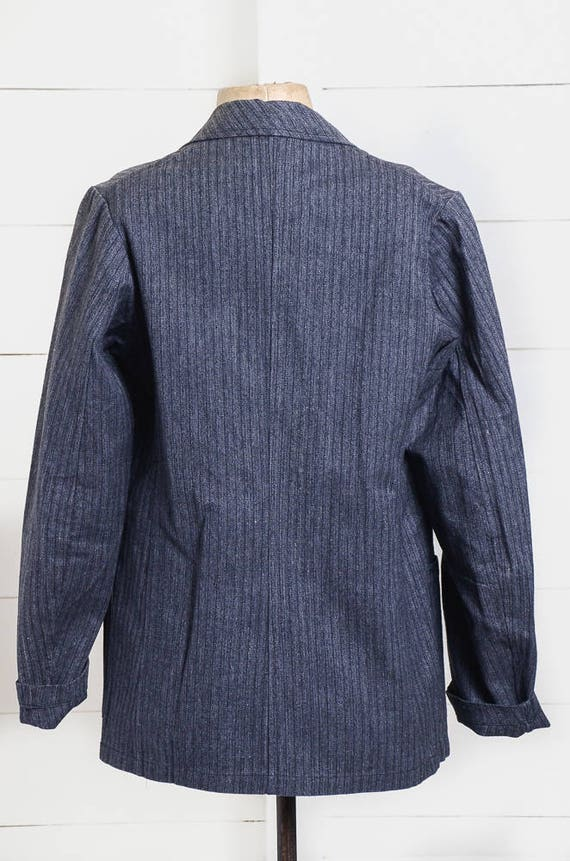 1940s Deadstock French Chore Jacket Workwear Herr… - image 5