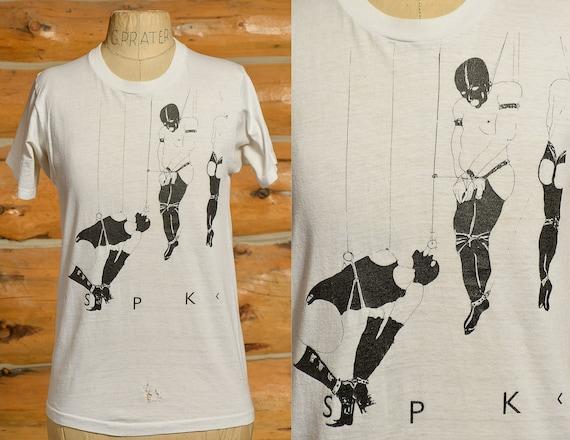 1980s SPK Punk T Shirt Bondage Suspension T Shirt