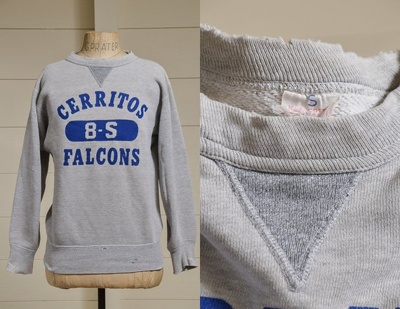 1950s V Stitch Sweatshirt Cerritos Falcons Califor