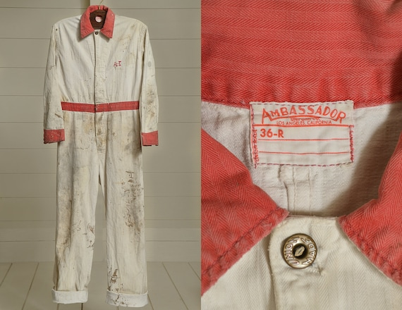 1960s Union Made Mechanics Jumpsuit Distressed Her