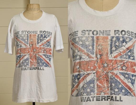 90s The Stone Roses Waterfall British Rock T Shirt