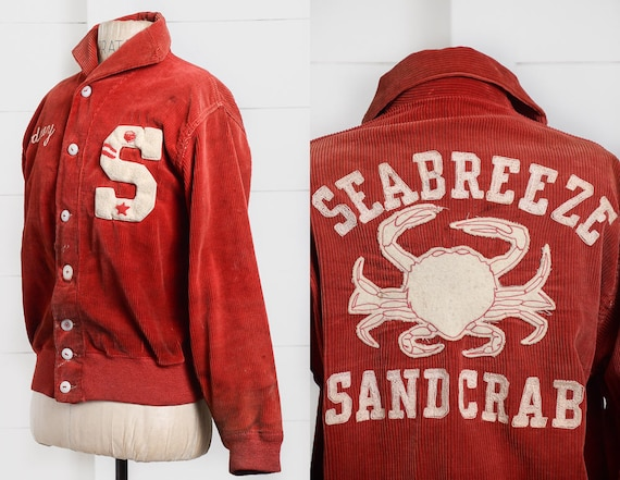 1940s Basketball Jacket Seabreeze Sandcrabs Dayton