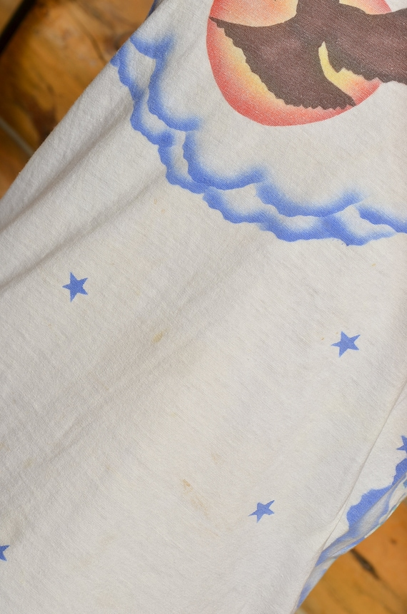 1970s Airbrush T Shirt Front and Back Eagle w/ Ra… - image 4