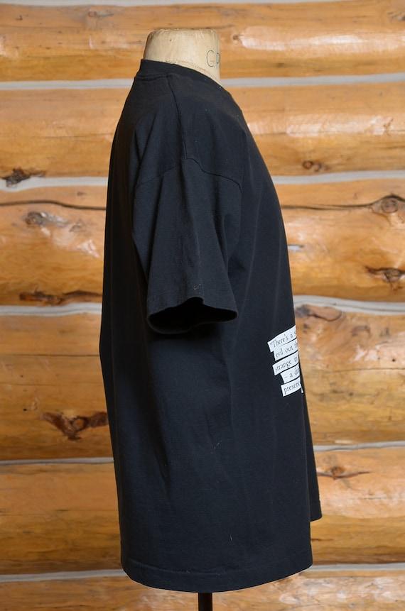 90s Twin Peaks Audrey Horne Black Cotton T Shirt - image 2