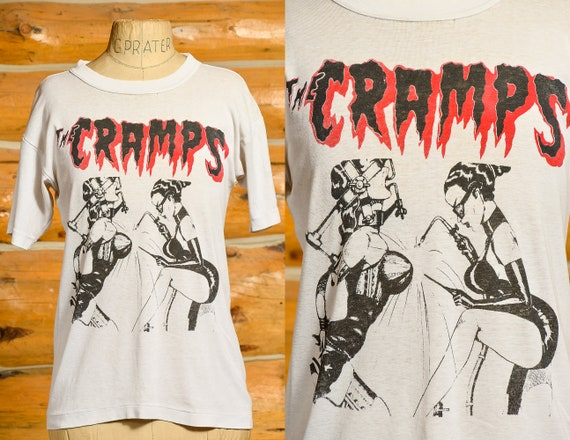 90s The Cramps Flamejob Original Promo T Shirt Nic