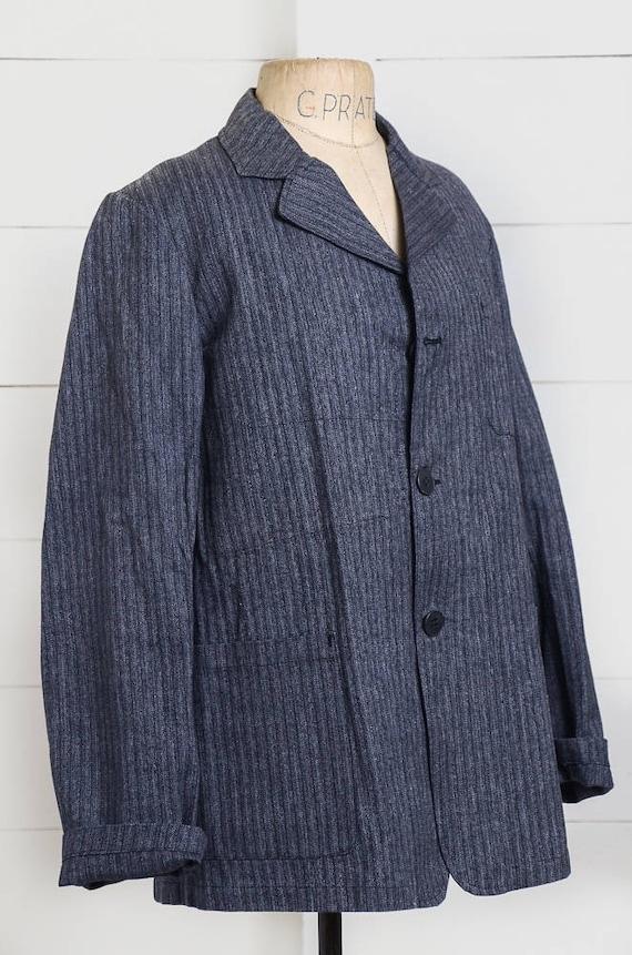 1940s Deadstock French Chore Jacket Workwear Herr… - image 2
