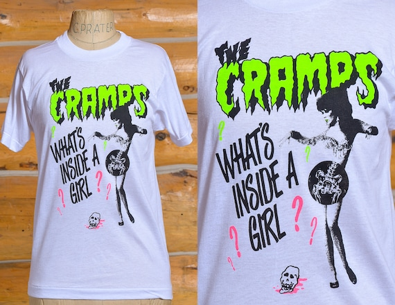1980s The Cramps Whats Inside a Girl T Shirt