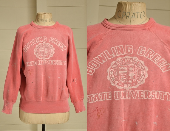 1950s Distressed Sweatshirt Bowling Green State Un